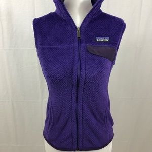 Patagonia Fleece Vest, Size XS, Purple